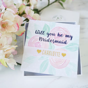 Personalised Will You Be My Bridesmaid Bracelet Gift