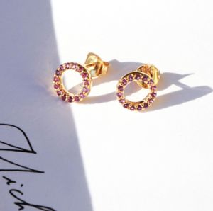 Amethyst And 18ct Gold Gemstone Wheel Studs - view all fine jewellery