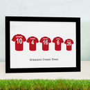Personalised Father Son Football Shirt Print