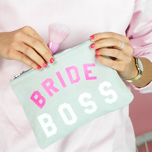 'Bride Boss' Make Up Bag