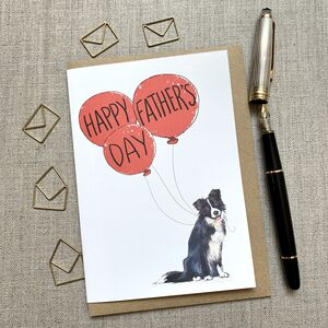 Father's Day Border Collie Card