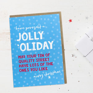 Fun Christmas Card 'Jolly Holiday'