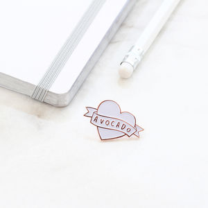 Love Avocado Enamel Pin - pins & brooches