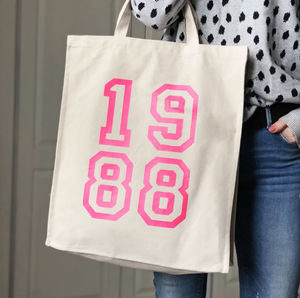 1988 Pink Neon Canvas Bag