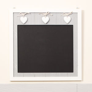 French Country Grey Heart Chalkboard