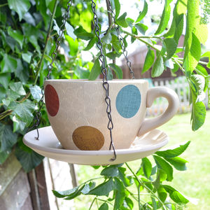 Spotty Teacup Bird Feeders