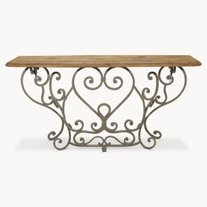 Woodcroft Railing Console Table