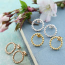 Beaded Gold Ring Bridesmaid Earrings