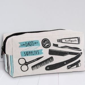 Number One Dad 'Dad's Supplies' Wash Bag