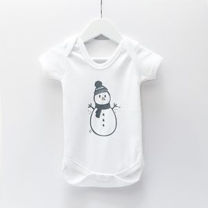 Christmas Snowman Babygrow - gifts for babies & children