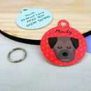 Border Terrier Personalised Dog ID Tag
