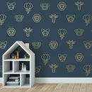 Geometric Jungle Wall Stickers