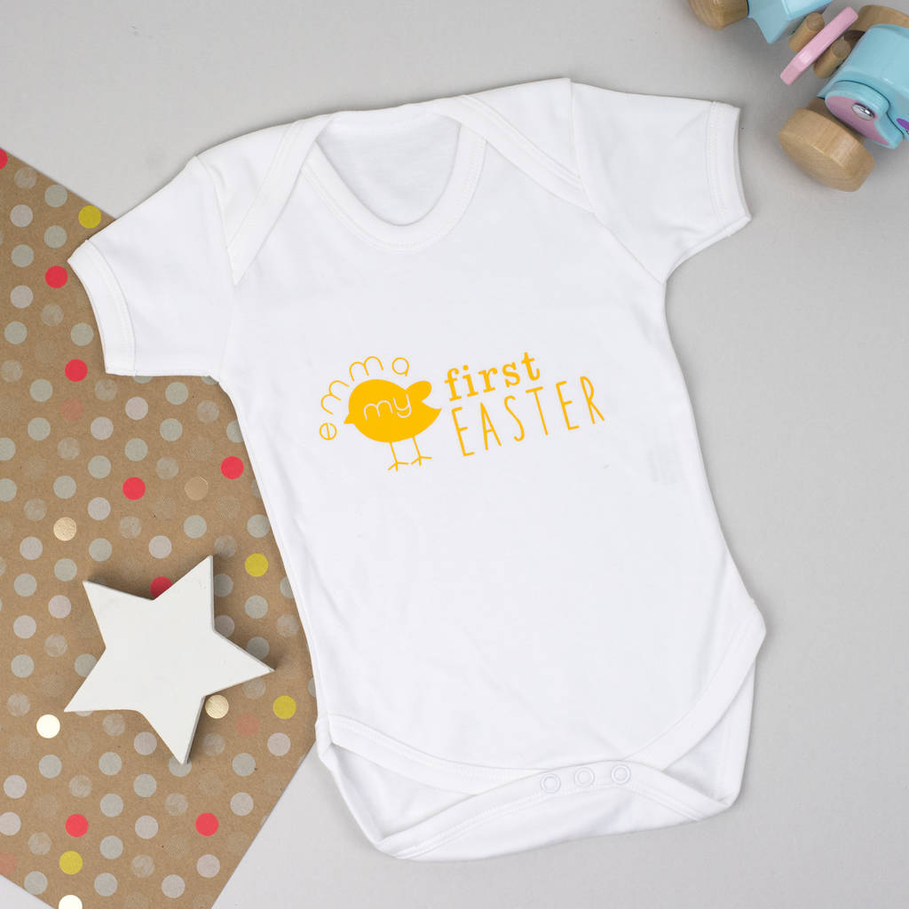 'My First Easter' Personalised Baby Grow