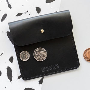 Personalised Handmade Leather Coin Purse