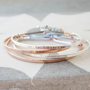 Message Bangle Available In A Choice Of Designs - 16th birthday gifts