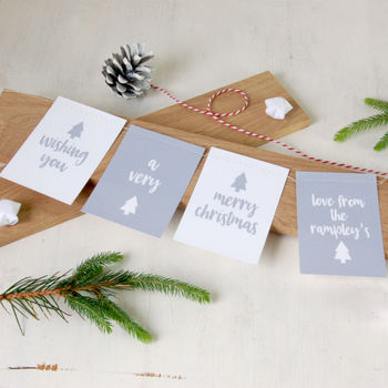 Christmas Cards: Personalised Family Bunting