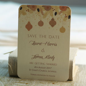 Christmas Winter Wedding Save The Date Cards - save the date cards