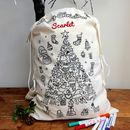 Personalised Colour In Christmas Sack