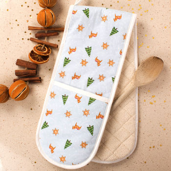 Gingerbread Wonderland Double Oven Mitts