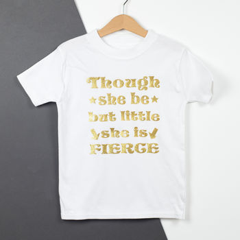 Though She Be But Little Shakespeare Baby T Shirt