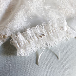 Personalised Lace Bridal Garter