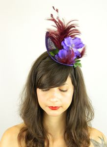 Feathered Orchid Fascinator Hat