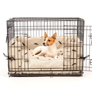 Dog Crate, Bumper And Cushion In Sophie Allport Fabric