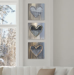 Metal Love Hearts Set - sculptures