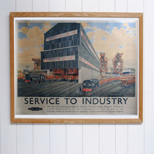 Original Service To Industry British Railways Poster - posters & prints