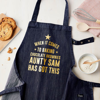 Personalised Got This Denim Apron