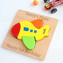 Personalised Plane Wooden Puzzle