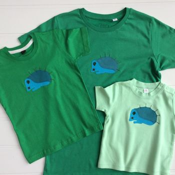 Mum And Child Hedgehog T Shirt Set