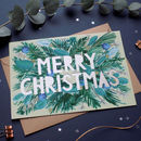 Merry Christmas Luxury Papercut Christmas Card