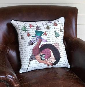 Dodo Alice In Wonderland Cushion - bedroom