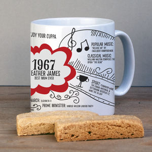 50th Birthday Personalised 1967 Mug - kitchen