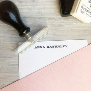 Create Your Own Personalised Stationery Stamp