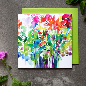 Dahlia Watercolour Card