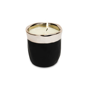 Scented Black And Gold Sack Pot Candle