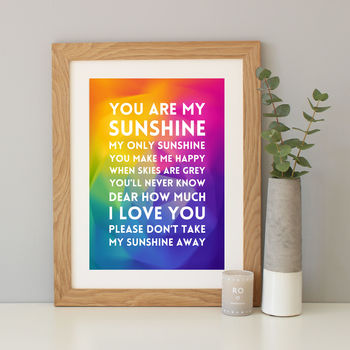 Personalised Song Lyrics Gradient Print