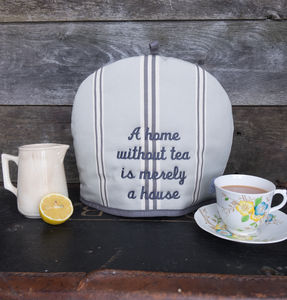 Personalised Embroidery Eastnor Grey Tea Cosy - tea & coffee cosies