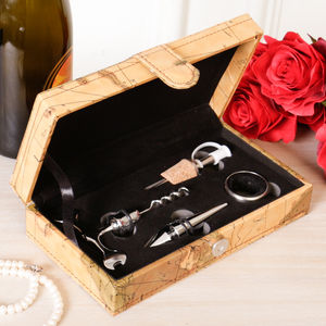 Wine Accessories Adventure Gift Box - gifts for travel-lovers