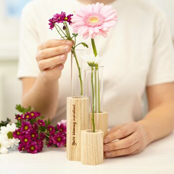 Personalised Geometric Stem Vase