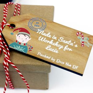 Personalised Wooden Gift Tag From The North Pole - cards & wrap