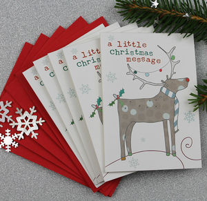 Christmas Card Mini Pack Of Five