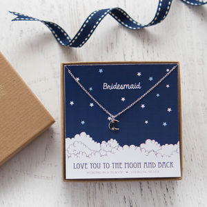 'Love You To The Moon' Sterling Silver Necklace
