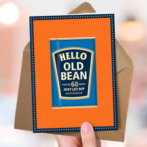 60th Birthday '60th Bean' - birthday cards