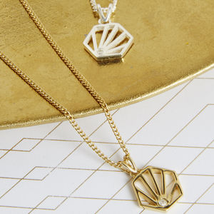 Diamond Hexagon Necklace - top jewellery gifts