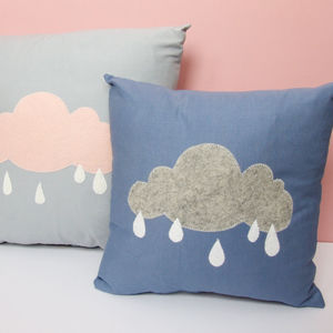 Rain Cloud Cushion Nursery Decor - cushions