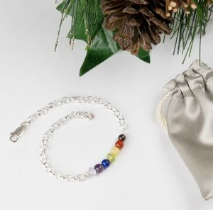 Sterling Silver And Natural Gemstones Chakra Bracelet - new in jewellery