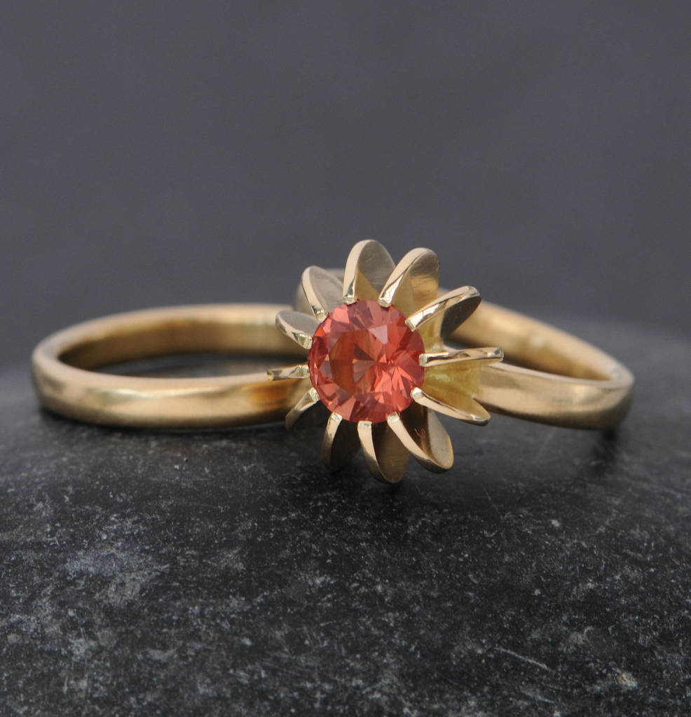 bohemian rose diamond gold victorian rings stone exclusive floral sun filigree stacking sunstone antique penellibelle pin wide engagement ring